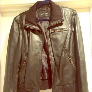 NWOT 100% Genuine Leather Bomber Jacket